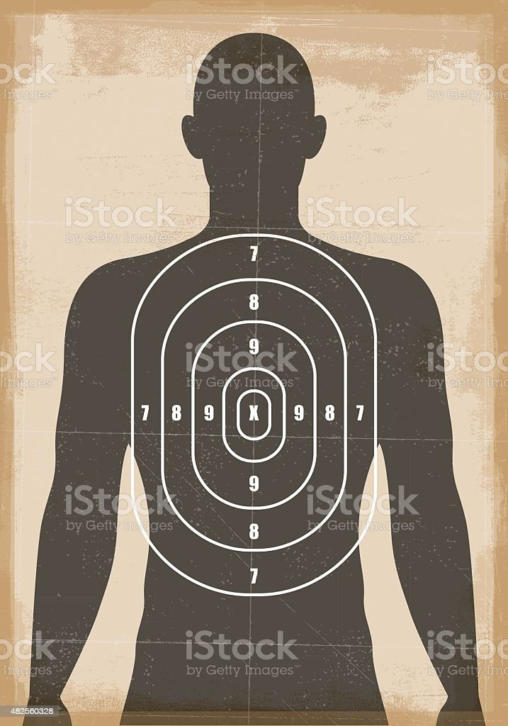 Human shooting target vector art illustration