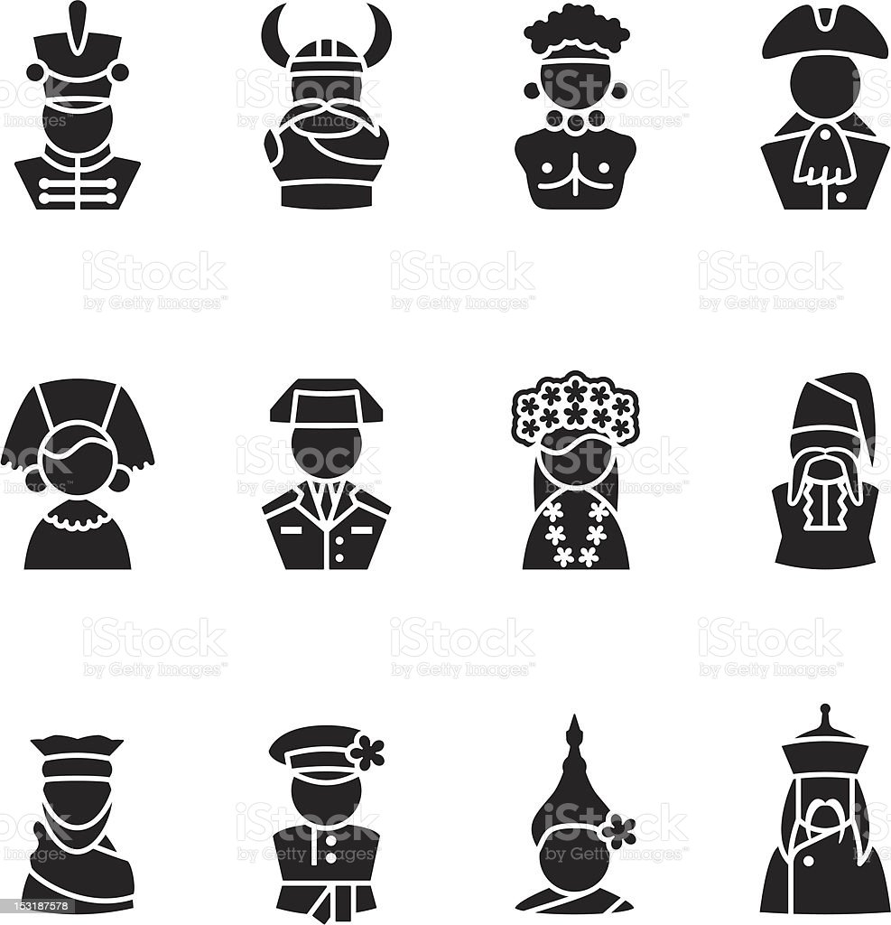 human silhouettes icon set royalty-free stock vector art