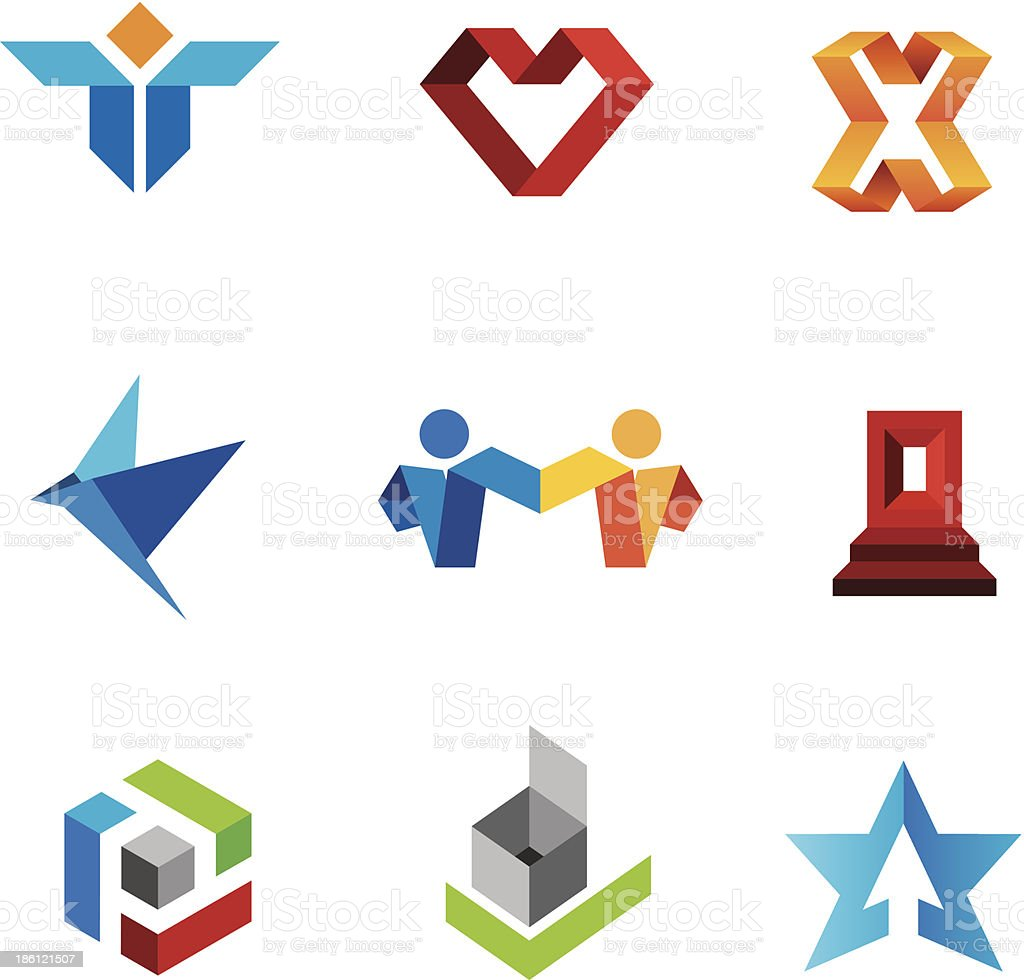 Human social creativity genius in world community logo template vector art illustration