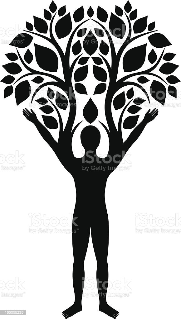 Human tree royalty-free stock vector art
