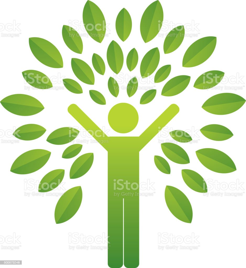 Human tree vector art illustration
