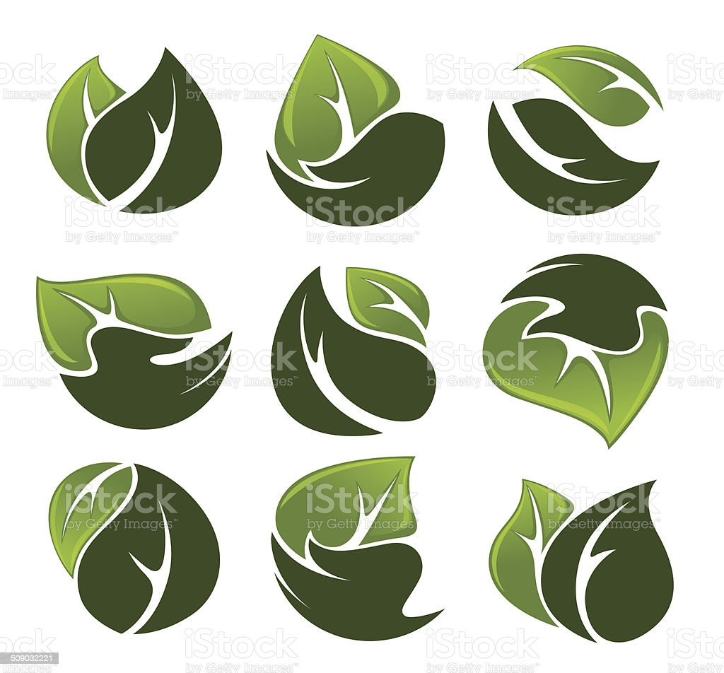human's hands and green growing plants vector art illustration