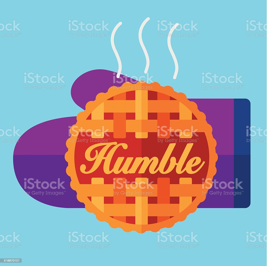 Humble Pie vector art illustration
