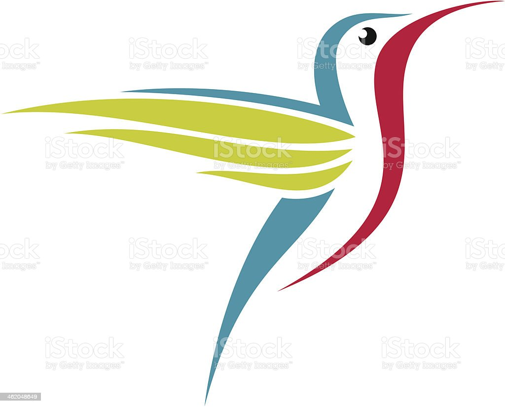 Hummingbird vector art illustration
