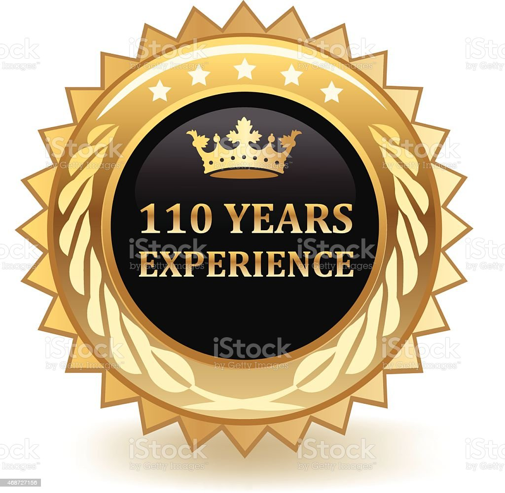 Hundred And Ten Years Experience vector art illustration