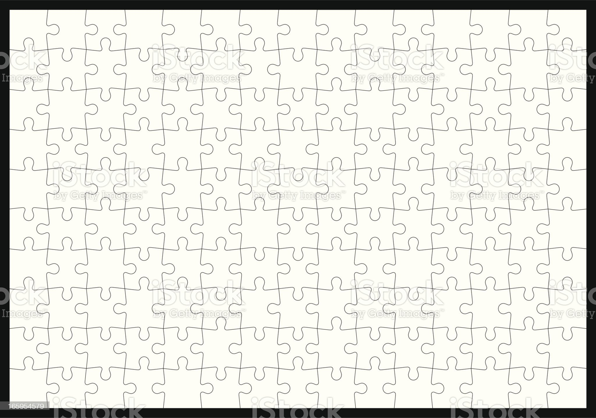 Hundred fifty pieces jigsaw puzzle royalty-free stock vector art