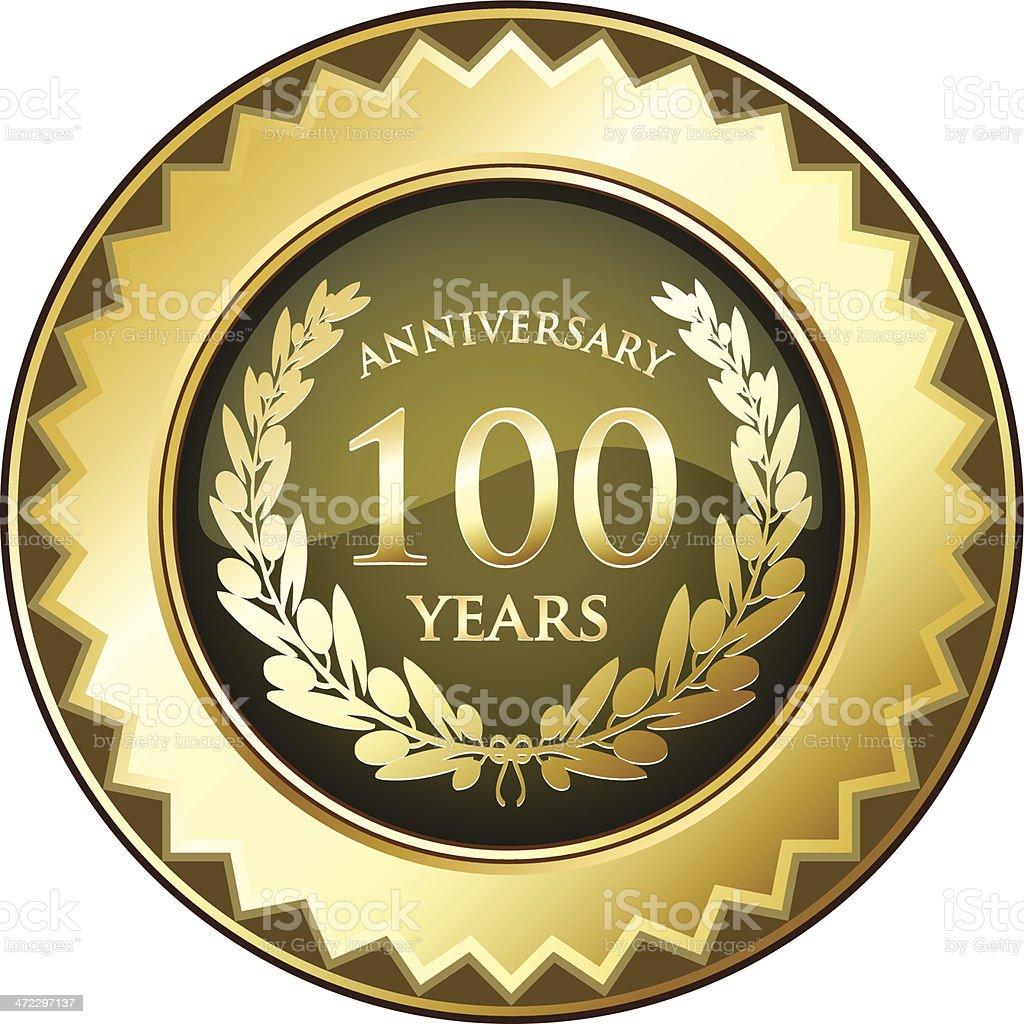 Hundred Years Anniversary Badge vector art illustration