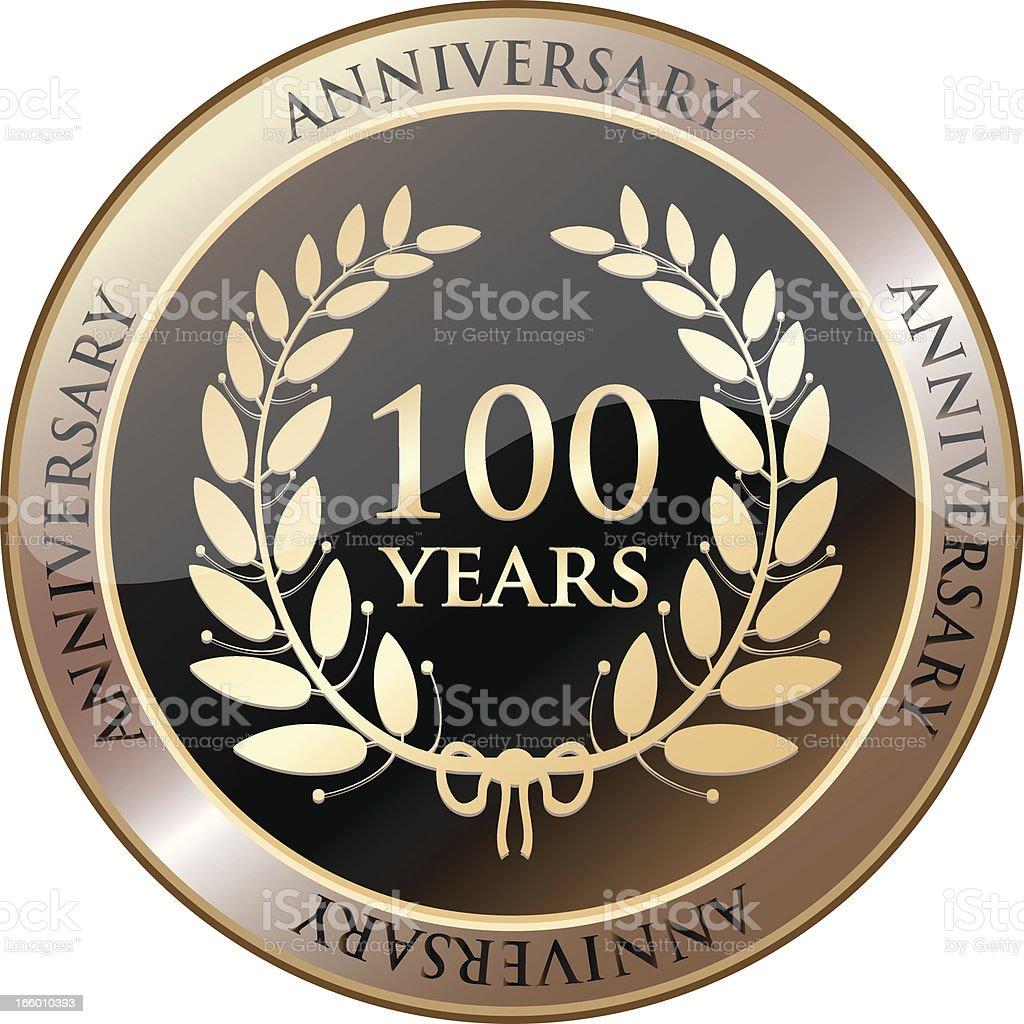 Hundredth Anniversary Celebration Shield vector art illustration