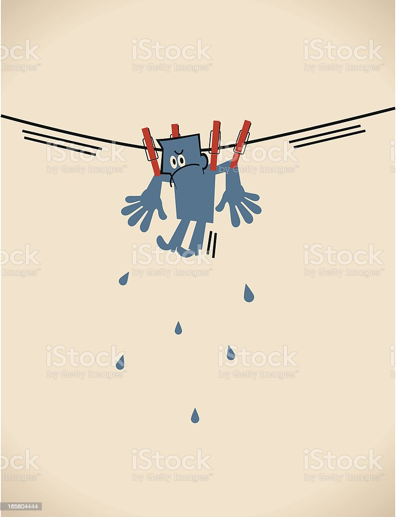 Hung Out To Dry royalty-free stock vector art