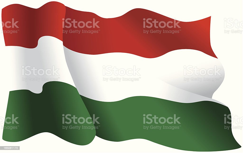 Hungarian flag royalty-free stock vector art