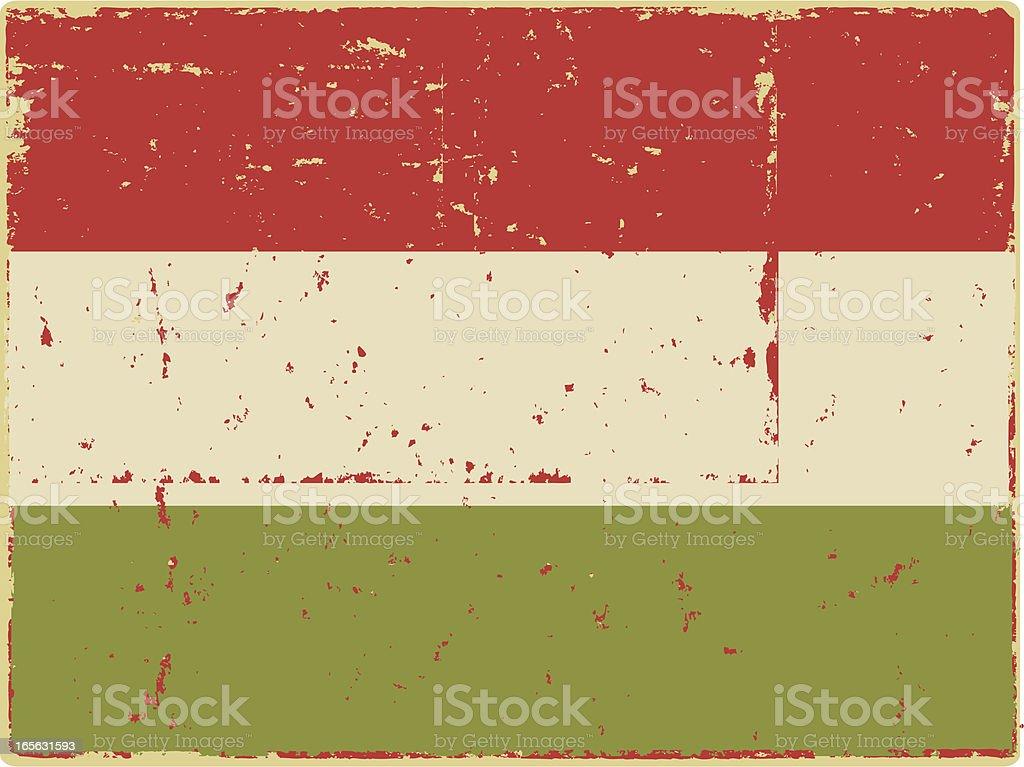 Hungarian Flag royalty-free stock vector art