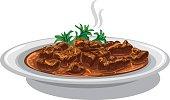 hungarian goulash dish