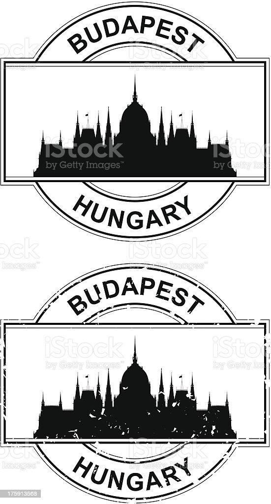 Hungarian Passport Stamp royalty-free stock vector art