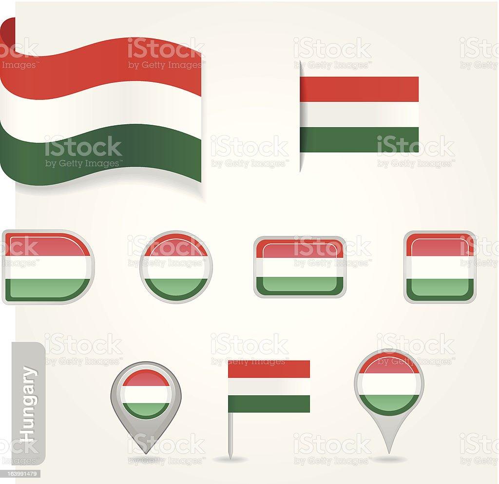 Hungary flag icon royalty-free stock vector art