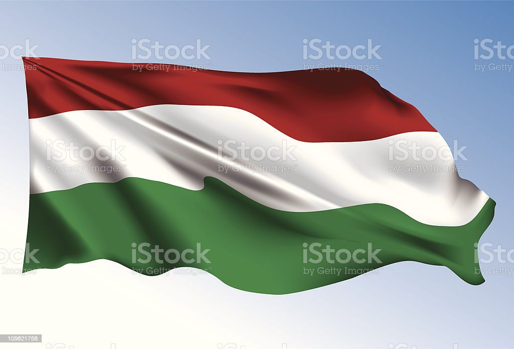 Hungary flag royalty-free stock vector art