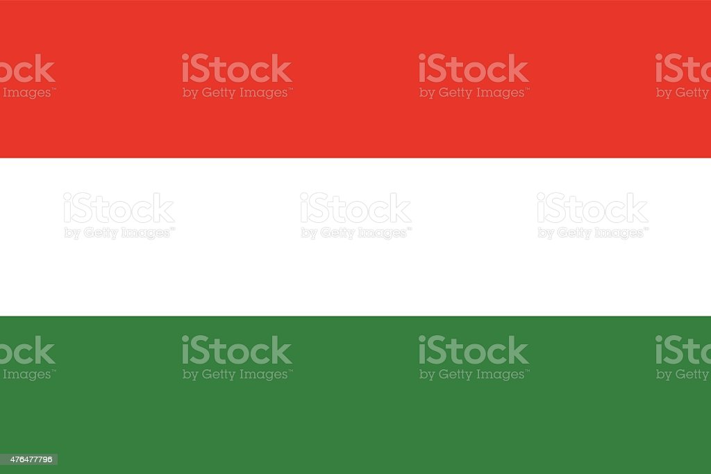 Hungary Flag vector art illustration