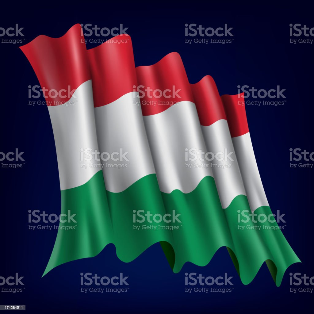 Hungary, Hungarian Flag royalty-free stock vector art