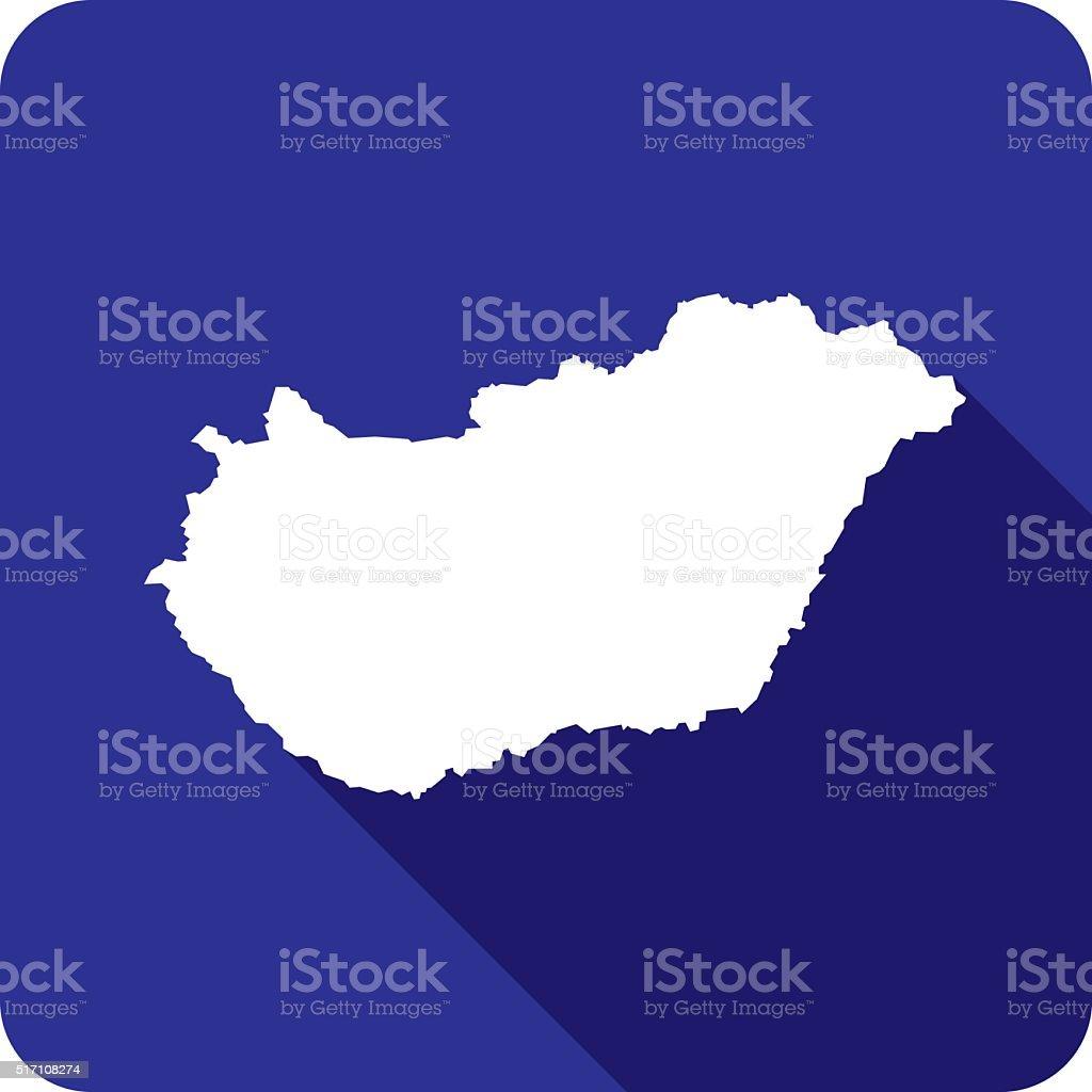 Hungary Icon Silhouette vector art illustration