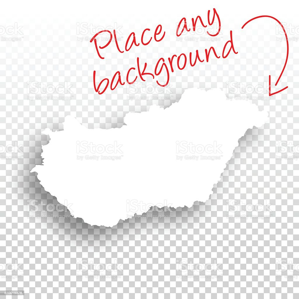 Hungary Map for design - Blank Background vector art illustration