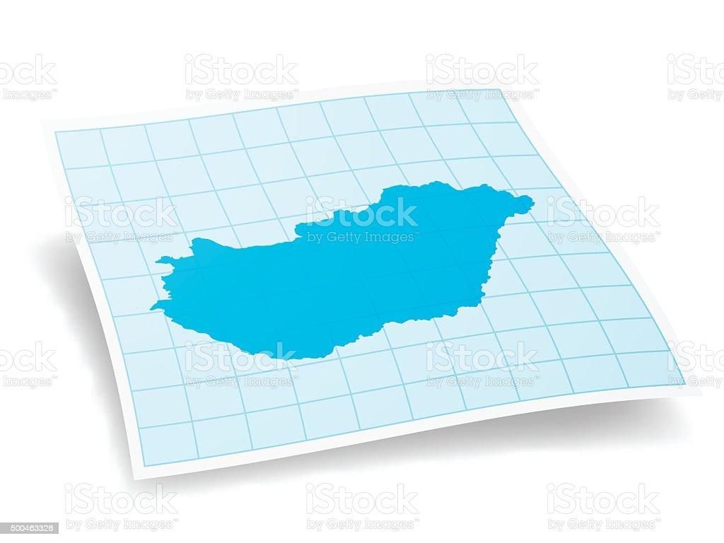 Hungary Map isolated on white Background vector art illustration