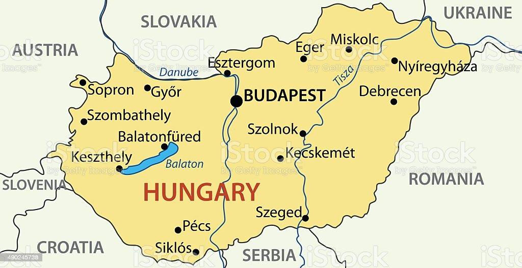 Hungary - vector map vector art illustration