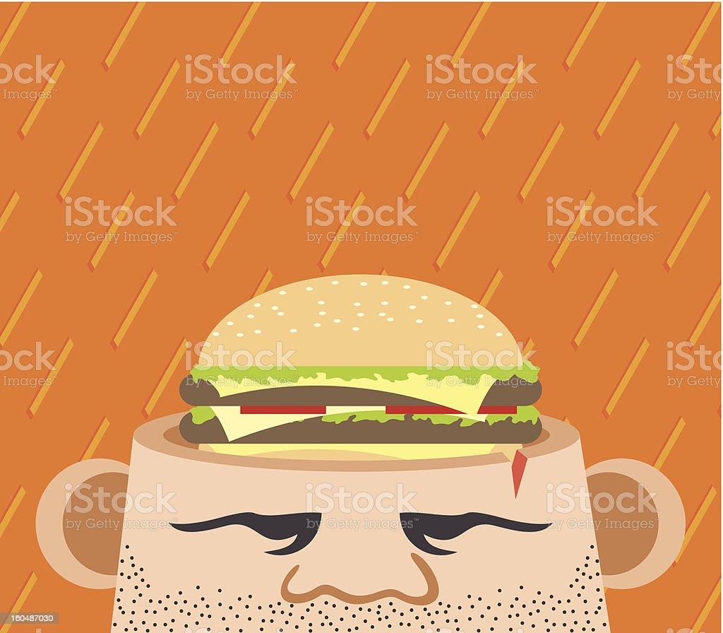 Hunger thoughts vector art illustration