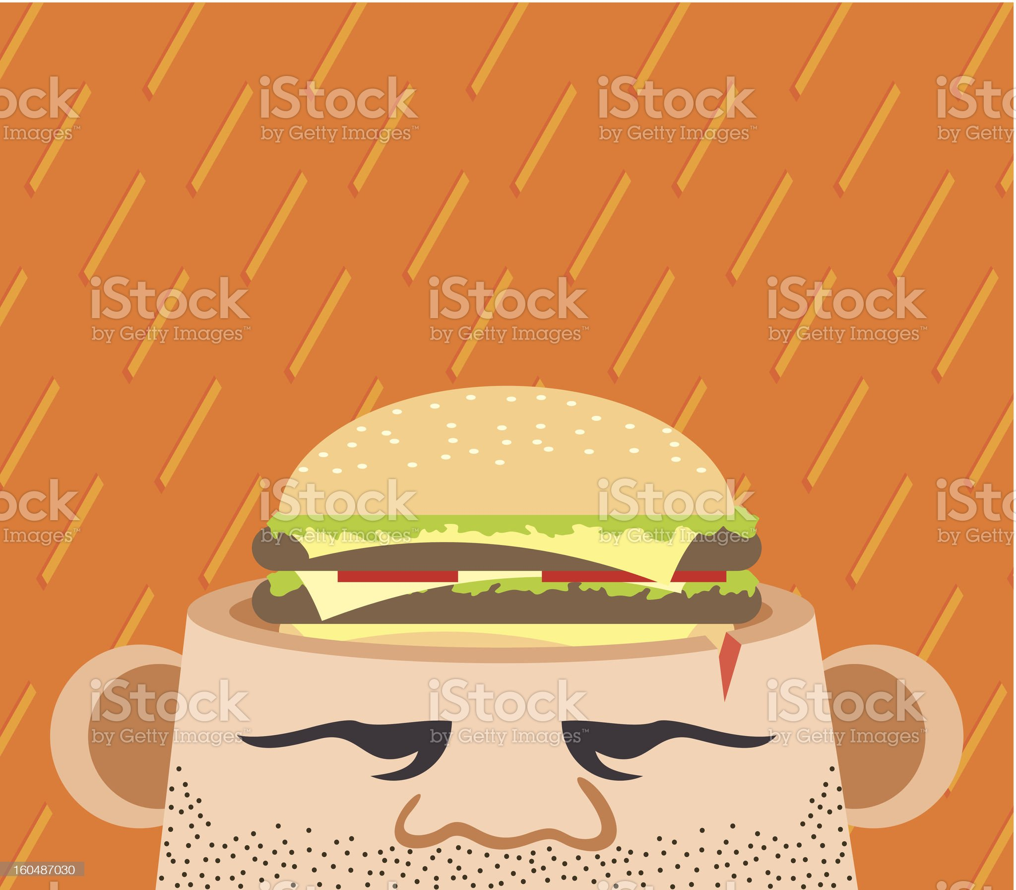 Hunger thoughts royalty-free stock vector art