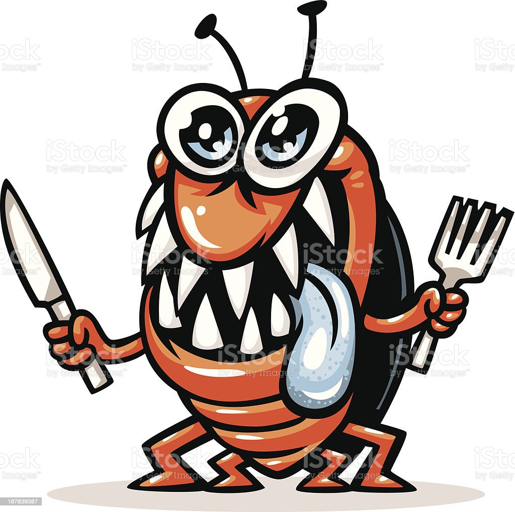 hungry bug royalty-free stock vector art