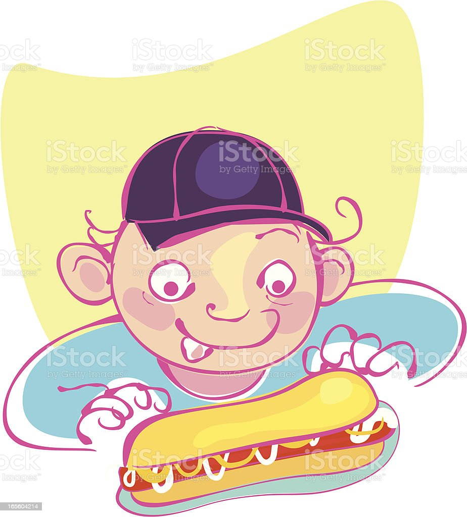 Hungry for Hotdog royalty-free stock vector art