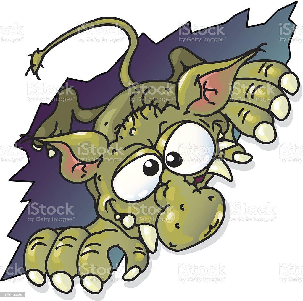 hungry monster vector art illustration