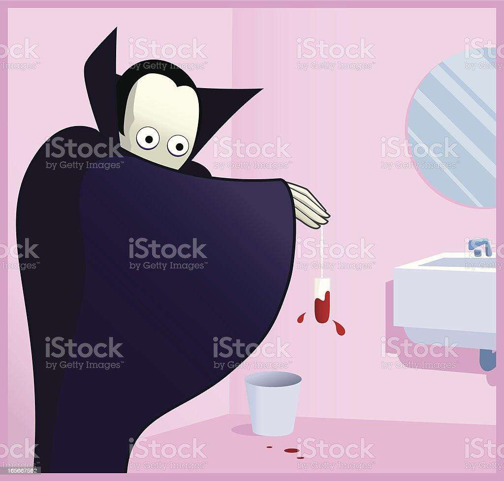 Hungry vampire vector art illustration