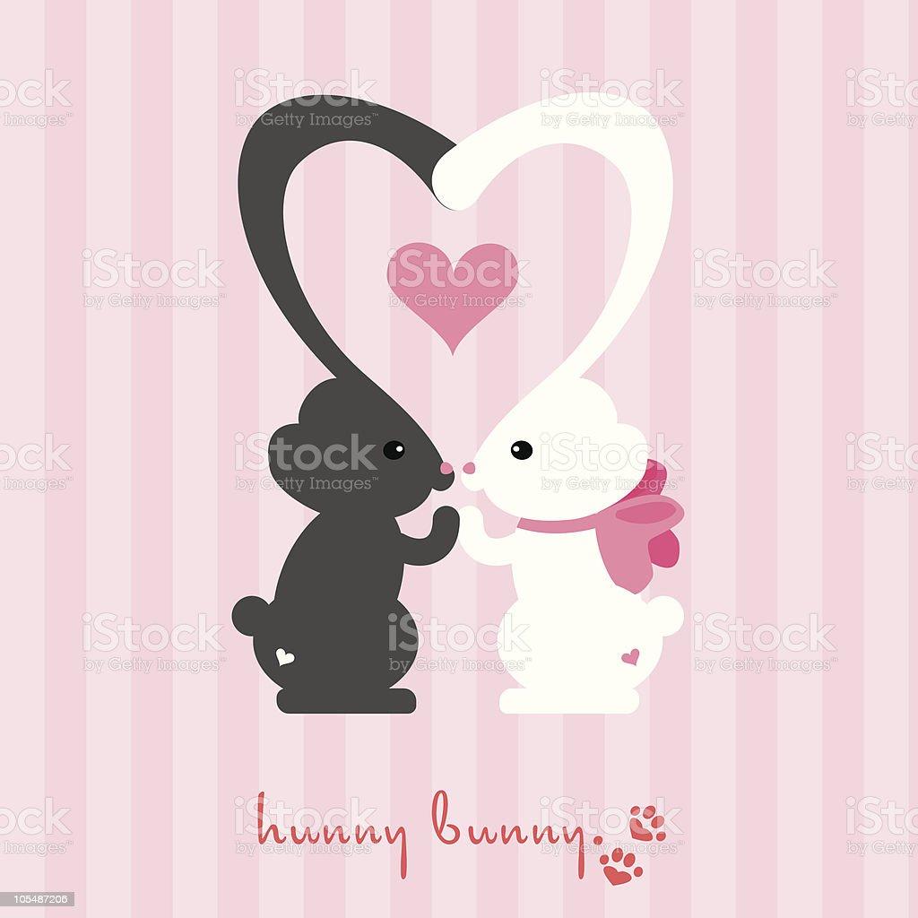 Hunny Bunny vector art illustration