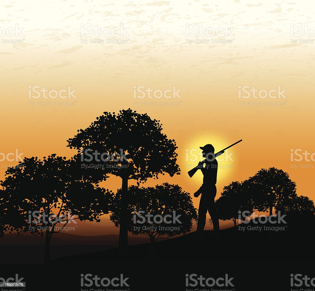 Hunter Background vector art illustration