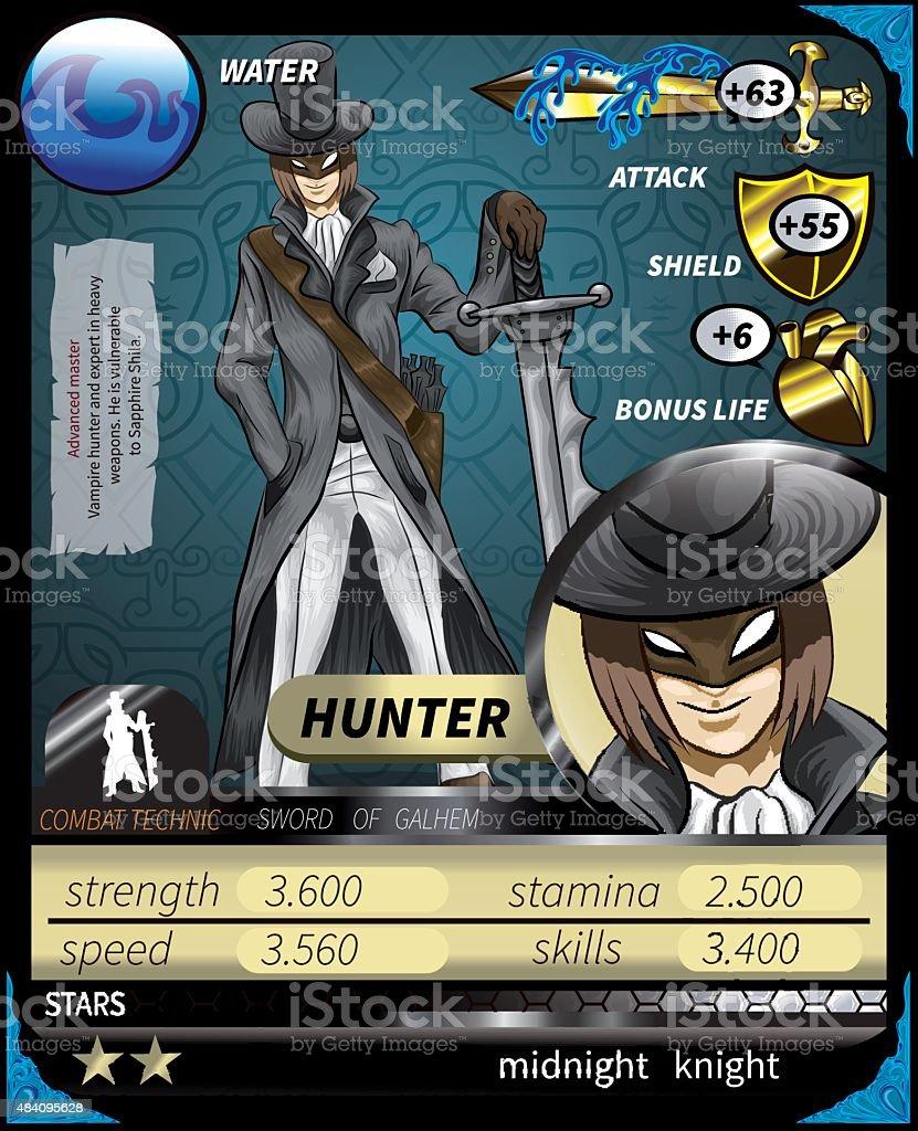 Hunter_Card vector art illustration