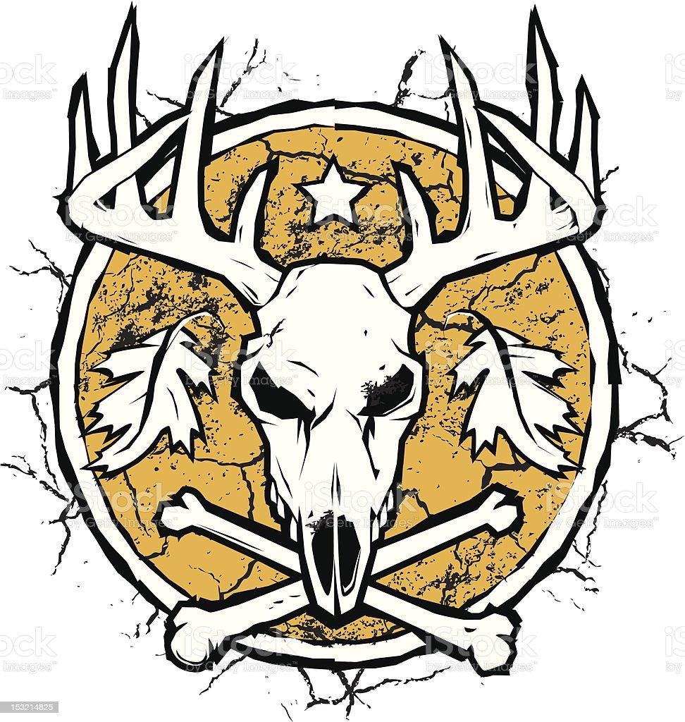 Hunter's Dry Earth Emblem royalty-free stock vector art
