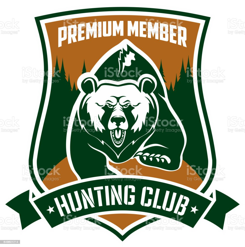 Hunting Club Premium Member Vector Isloated Sign stock vector art ...