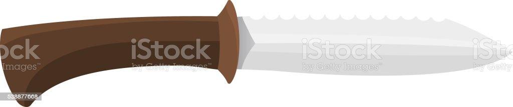 Hunting knife vector illustration. vector art illustration