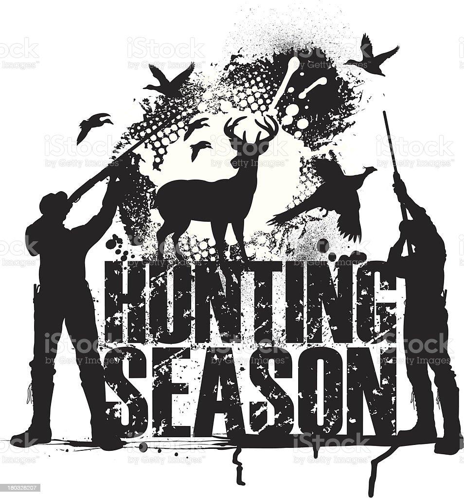 Hunting Season - Duck, Pheasant, Deer vector art illustration