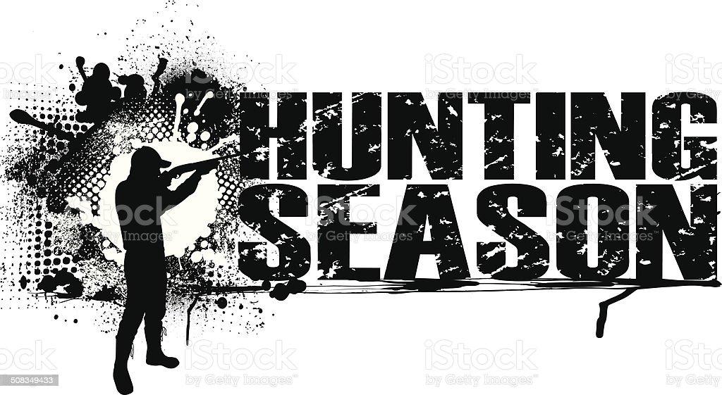 Hunting Season Graphic Background vector art illustration