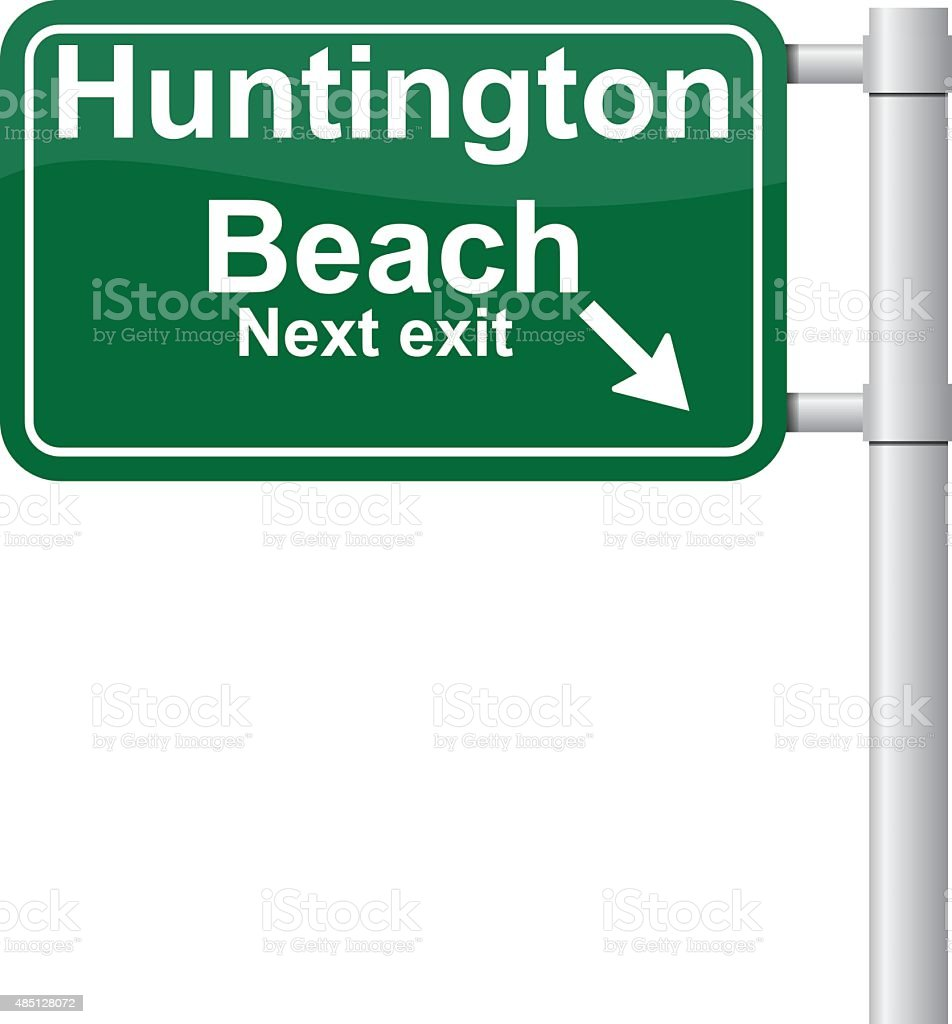 Huntington beach california stock photos and pictures getty images - Huntington Beach Next Exit Green Signal Vector Royalty Free Stock Vector Art