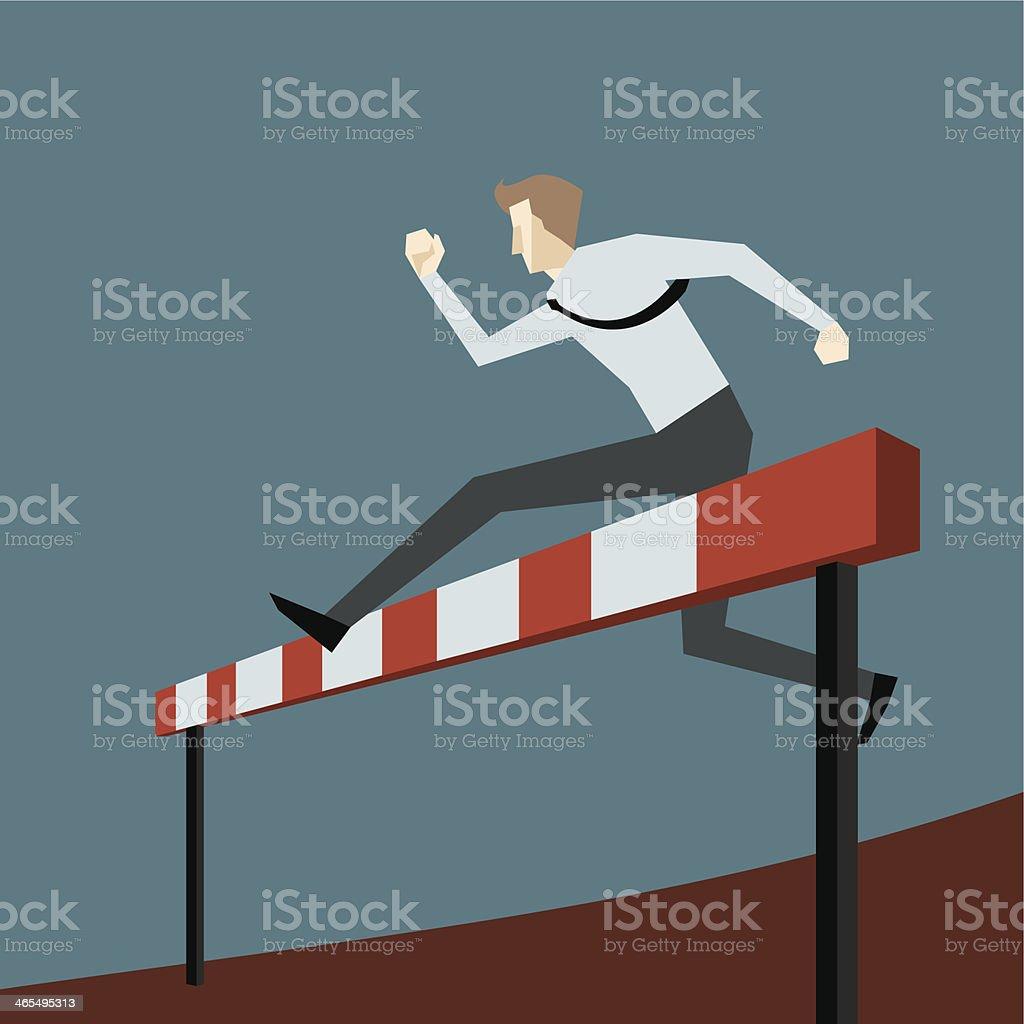 Hurdle vector art illustration