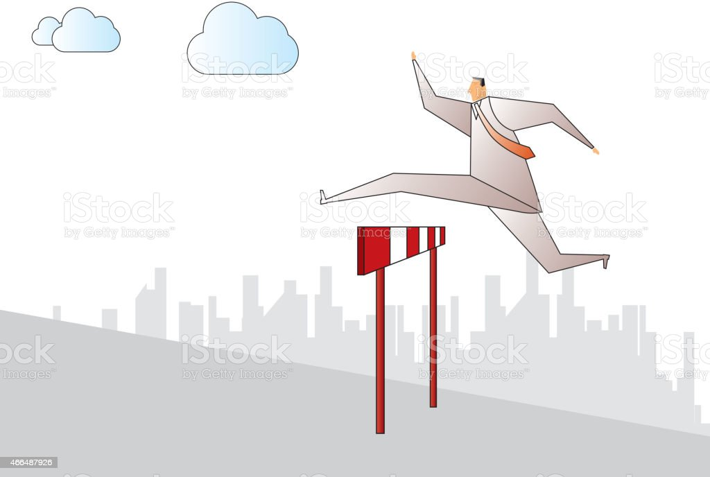 Hurdle vector art illustration