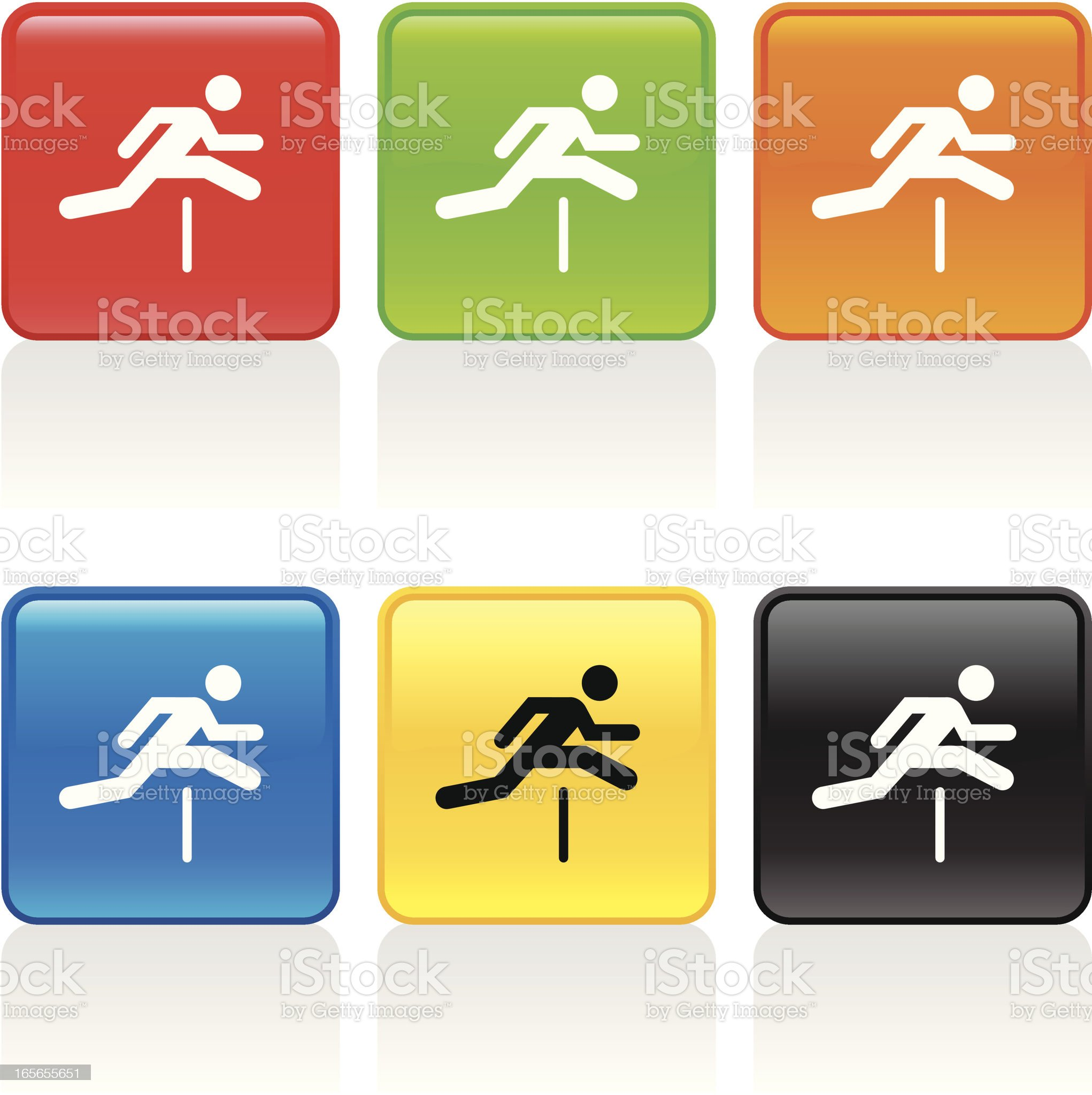 Hurdler Icon royalty-free stock vector art