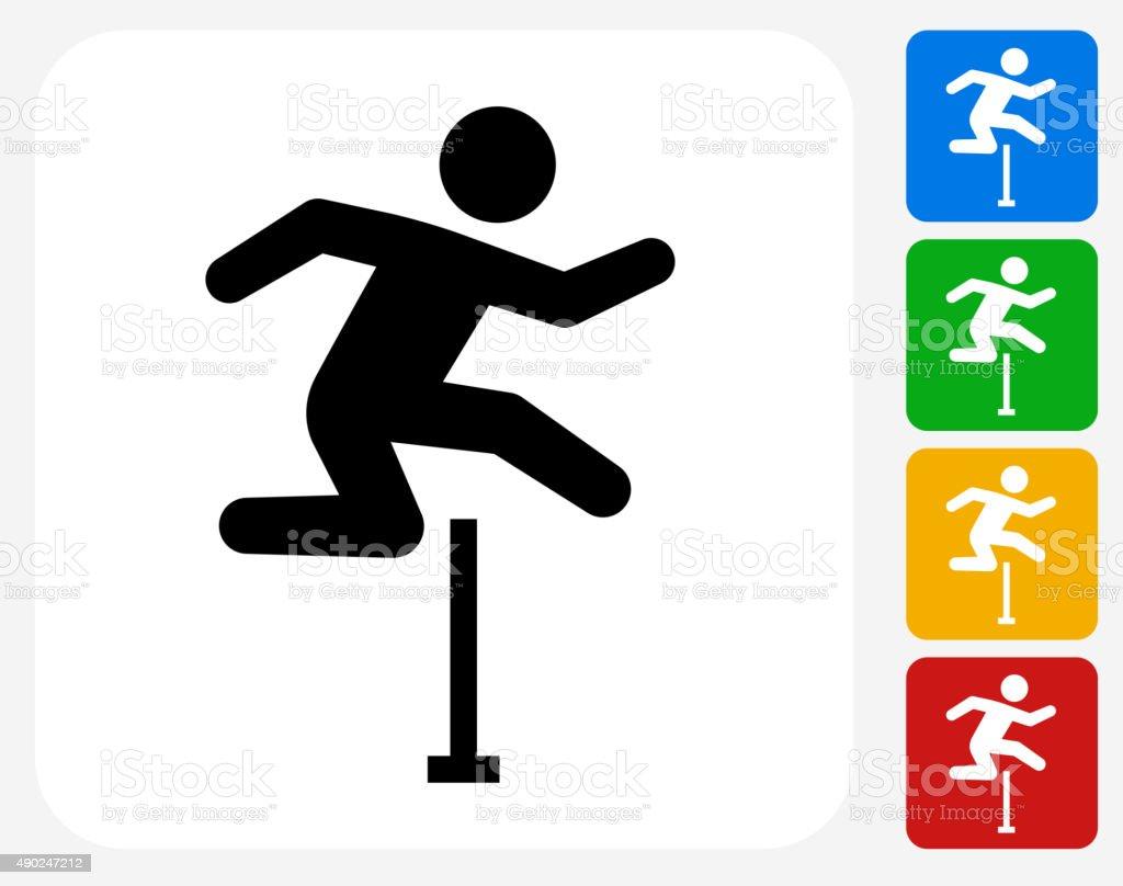 Hurdles Icon Flat Graphic Design vector art illustration