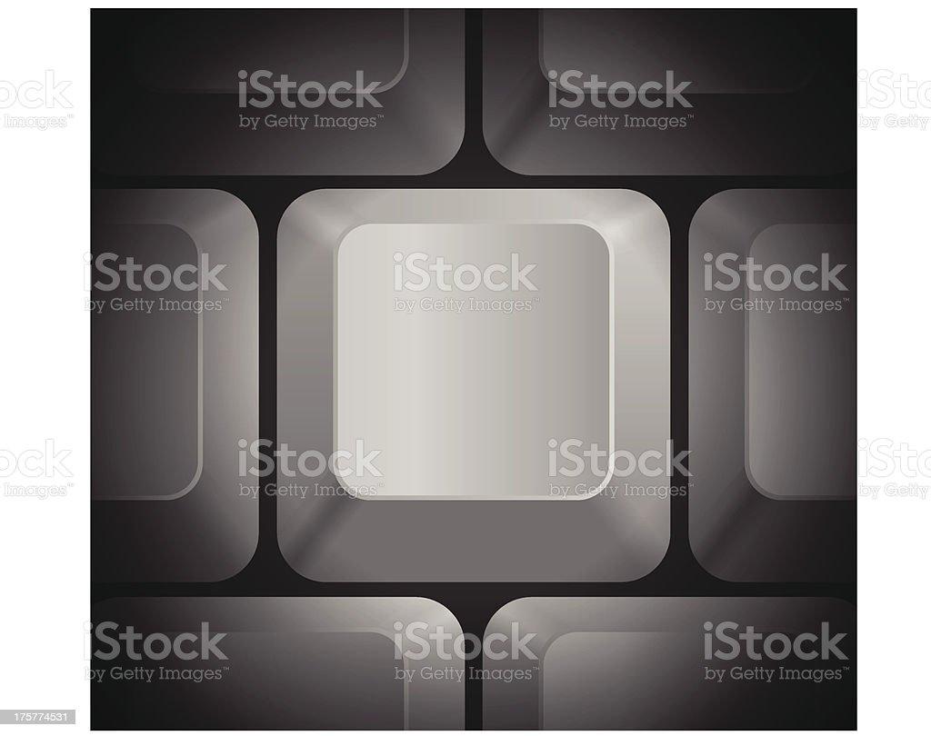 Hurdles Icon on Computer Keyboard royalty-free stock vector art