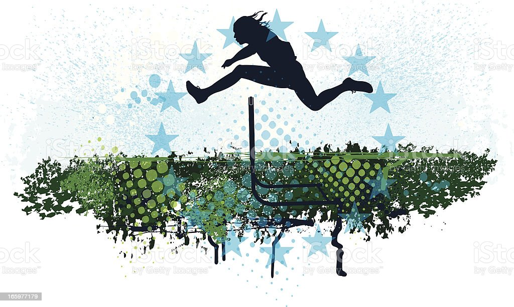 Hurdles - Track Event Background vector art illustration