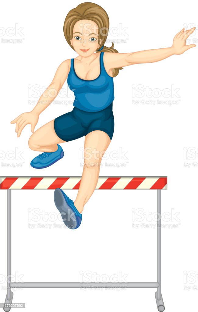 Hurdling vector art illustration