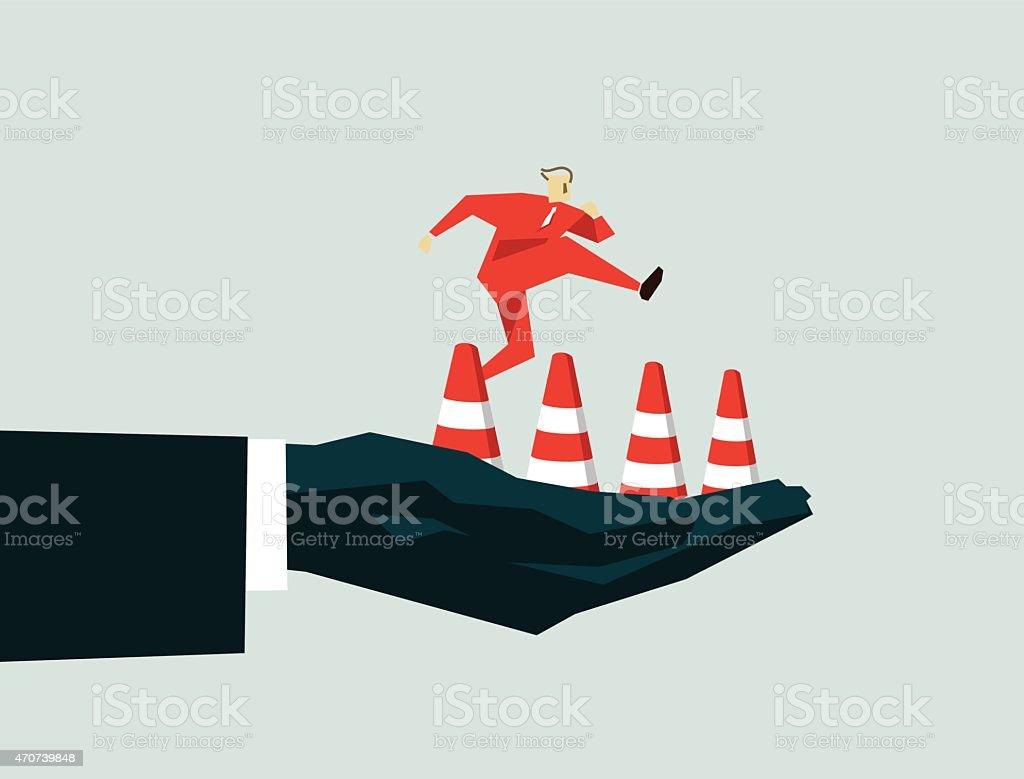 Hurdling-Illustration vector art illustration