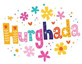 Hurghada vector lettering decorative type