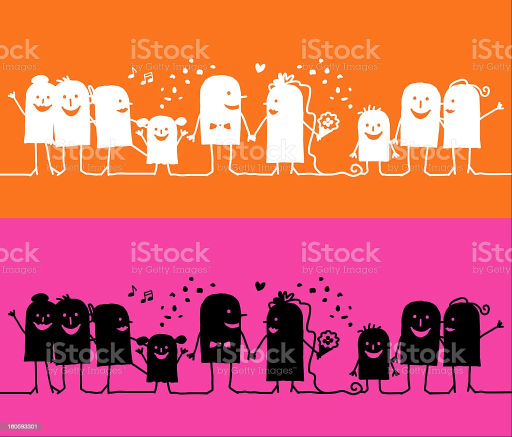 hurrah for the newly weds royalty-free stock vector art